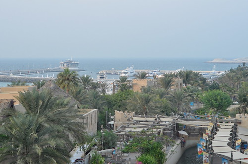 View of the harbour from Wild Wadi water park
