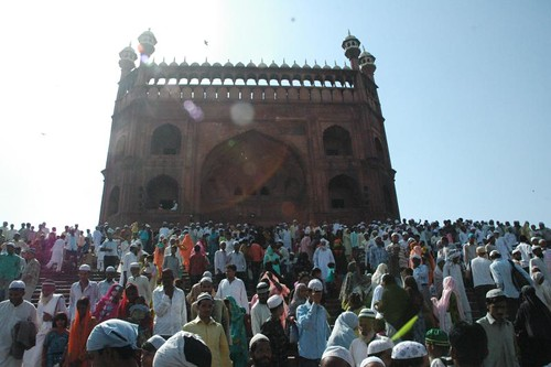 Every Jumma, the fridays during the holy month, mass descends for the prayers at the Jama Masjid