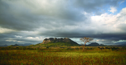 Farm landscape in central Malawi