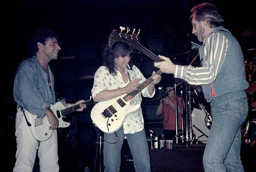 Neal Schon, Eddie Van Halen and John Enthwistle 1984 ...