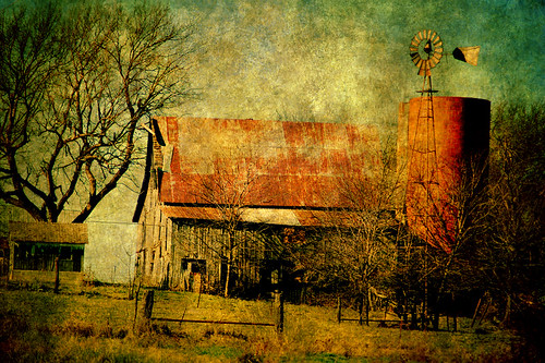 farm w/windmill by Jon Freeman Art