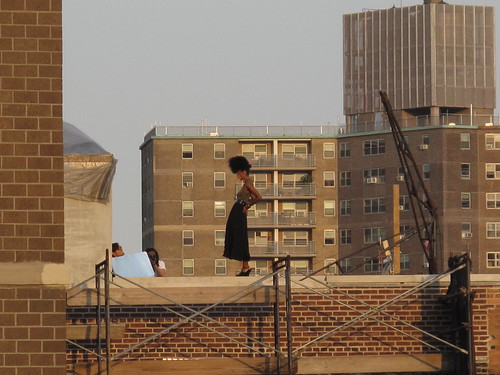 modeling session a few rooftops away...
