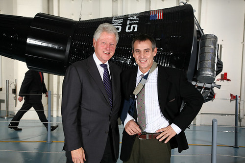 Jacques Rosas and Bill Clinton