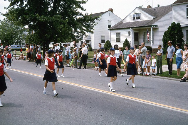 Maple Heights July 4th parade 1965 Campfire Girls