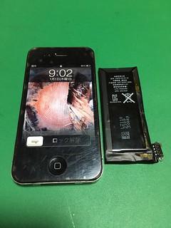 271_ iPhone4のバッテリー交換
