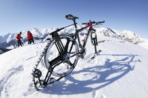 bicicletta neve settimana bianca livigno