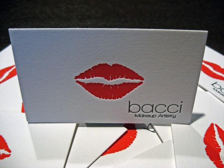 Bacci Makeup Letterpress Cards - Front