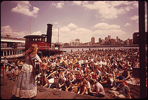 Folk Singing and Dancing has Found a New Home at the South Street Seaport, 06/1973