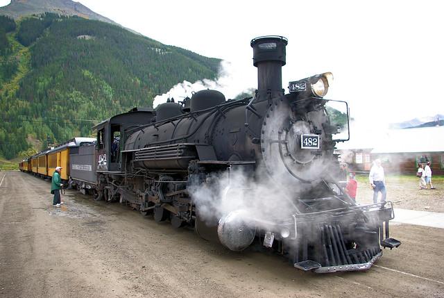 Durango & Silverton Narrow Gauge Railroad (D&SNG), Silverton, Colorado, September 8, 2009