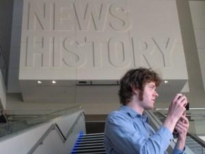 Matthew Hurst at the Newseum in Washington, DC