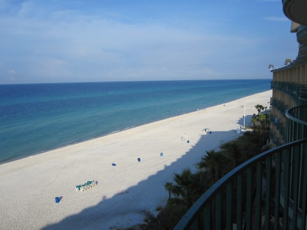 View from the Hotel room at Panama City Beach