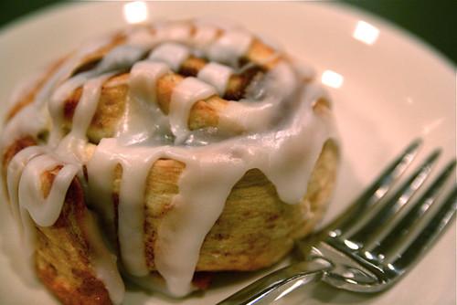 Cinnamon Roll and Fork 11-1-09 -- IMG_9386