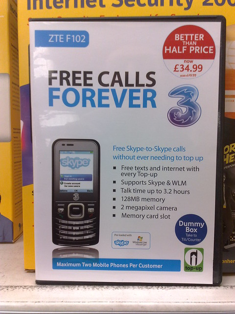 3 3g skype voip mobile phone