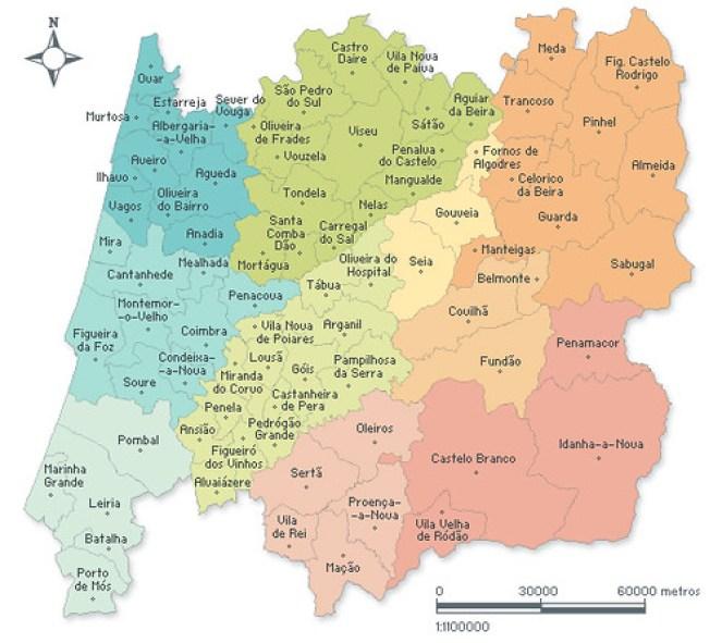 mapa portugal centro CENTRO DE PORTUGAL – Amantes de Viagens mapa portugal centro