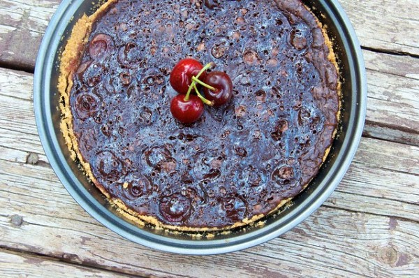 Flourless Chocolate Cake with Cherries - Dennis Wilkenson
