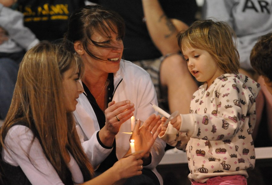 Candlelight vigil at Fort Hood