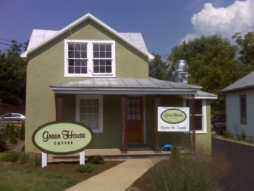 Greenhouse Coffee in Crozet - coming along well