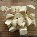 Peeled Chopped Cassava