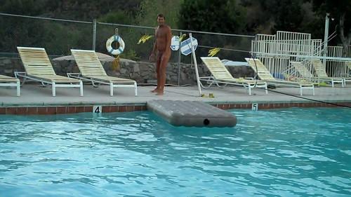 Deer Park Nudist Resort Big Pool by Deer Park Resort