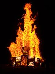 2009 Rose-Hulman bonfire