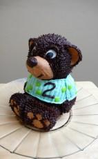 3D Teddy Bear Chocolate Cake