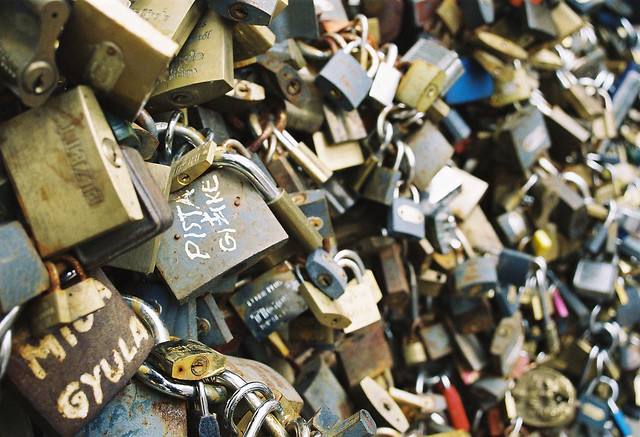Love locks in Hungary.