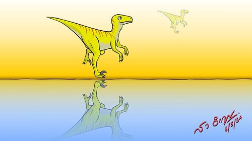 ไดโนเสาร์เดิน