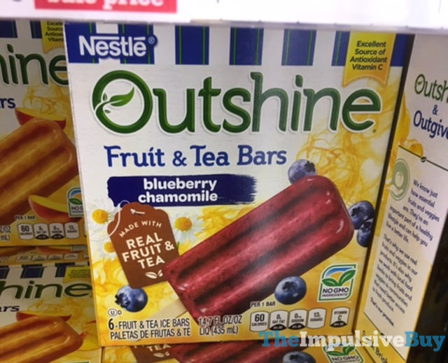 Nestle Outshine Blueberry Chamomile Fruit & Tea Bars