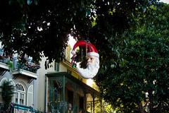 Christmas in New Orleans Square from HarshLight via flickr CC