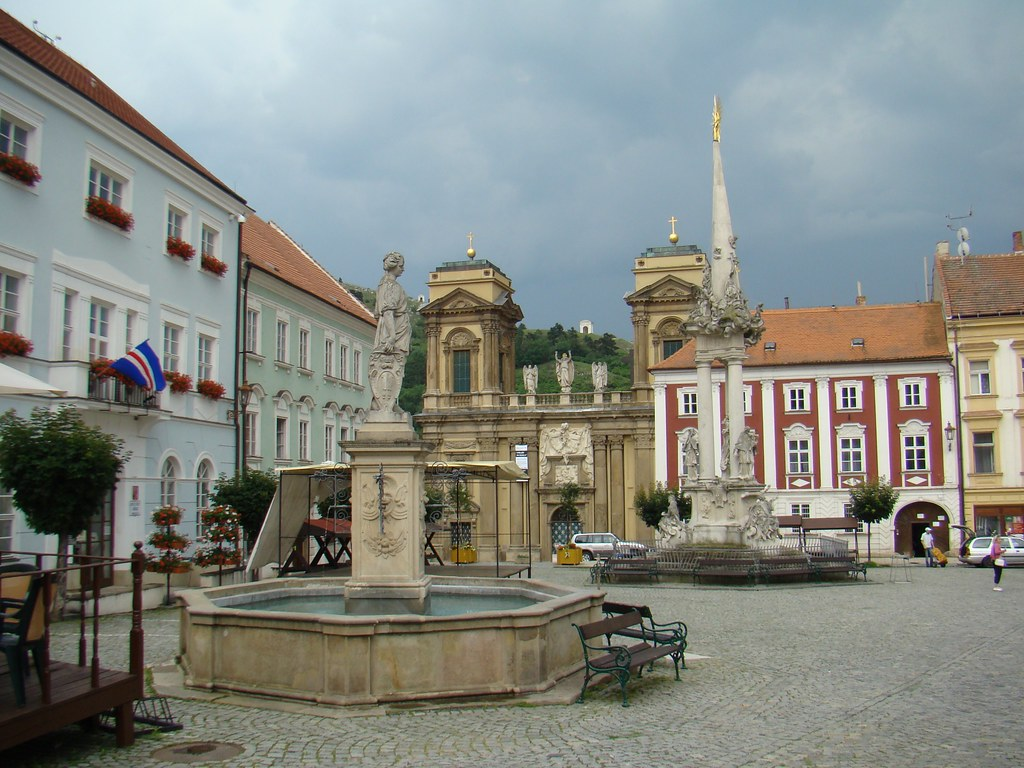 Mikulov Plaza Mayor Chequia 05