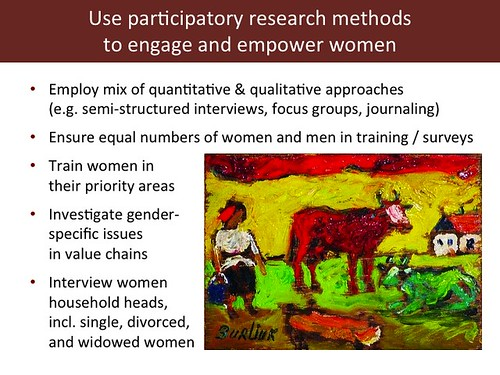 Slide 16: 'Women and Livestock', 7 Mar 2014