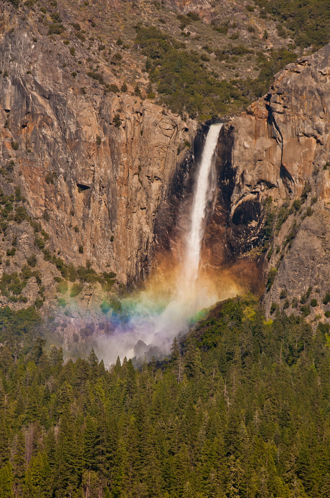 Telephoto of Bridalveil Falls