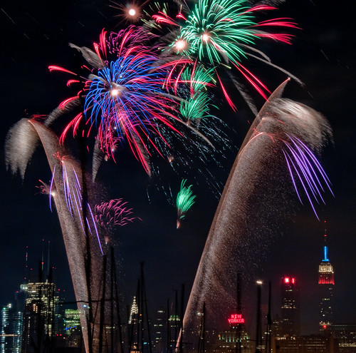 New Years fireworks in New York