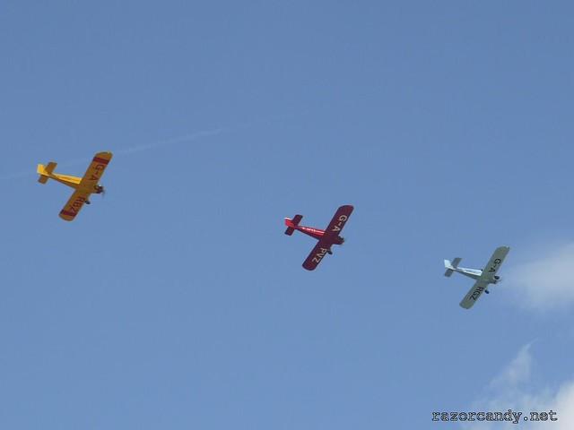 8 P1130835 Druine D.31 Turbulent {G-ARGZ} {G-APVZ} {G-ARBZ} _ City Airport - 2009 (4th July)