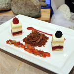 Fruit Short Cake, Chocolate Mousse