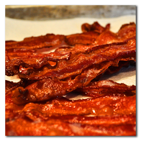 bacon cooked in oven