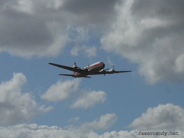 8 P1080566 British Eagle Douglas DC-6 {G-APSA} _ City Airport - 2008 (5th July)