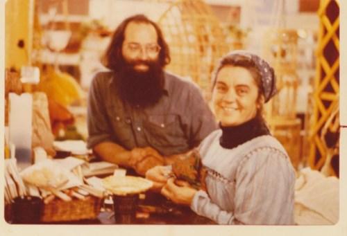 Marilynn & Dad at The Market Basket, Saint John City Market cicra 1976