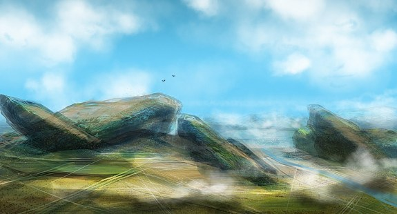 landscape speed painting