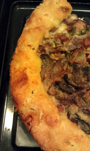 Turkey, leek, mushroom galette by pipsyq