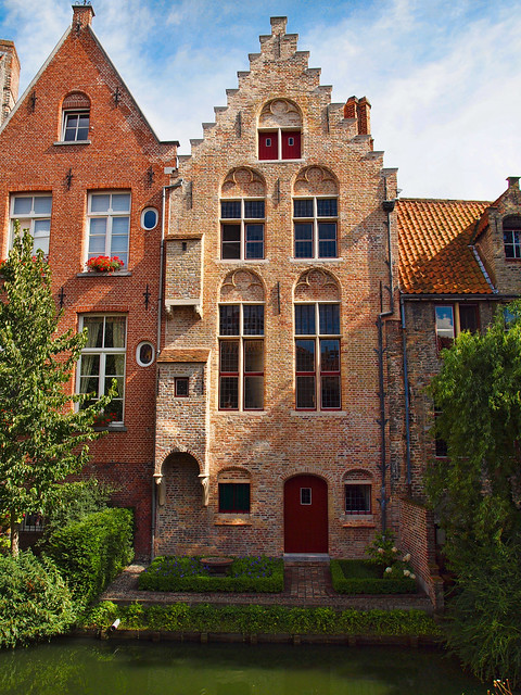 Old Houses On A Canal In Bruges Belgium Flickr Photo