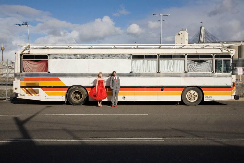 Bus portrait. Shaun and Clare 09/10/09