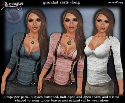 *League* Grandad Vests -Long