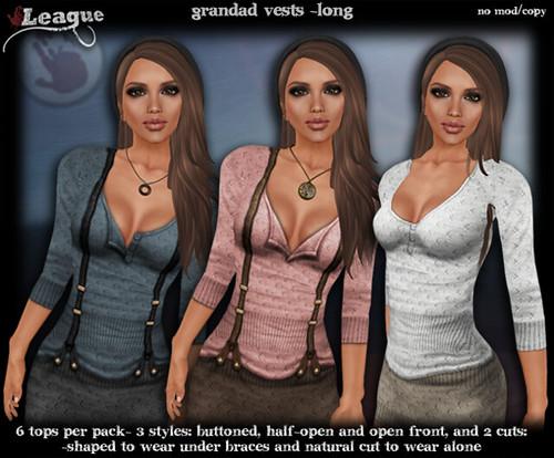 *League* Grandad Vests -Long
