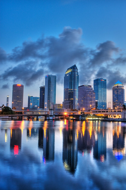 Downtown Tampa HDR Reflected Vertical Flickr Photo
