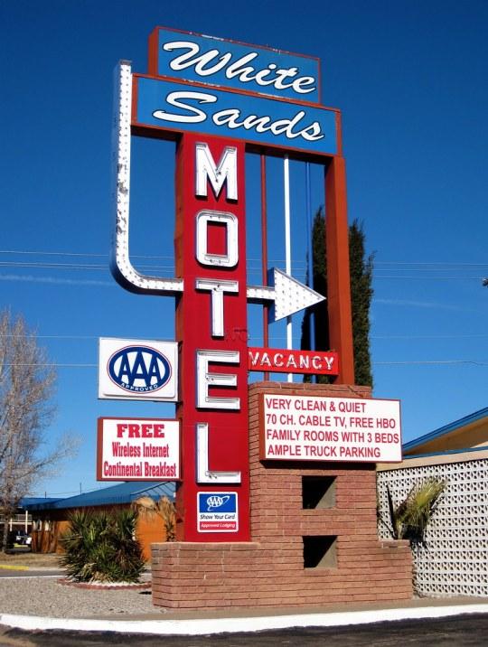 White Sands Motel - 1101 South White Sands Boulevard, Alamogordo, New Mexico U.S.A. - January 1, 2010