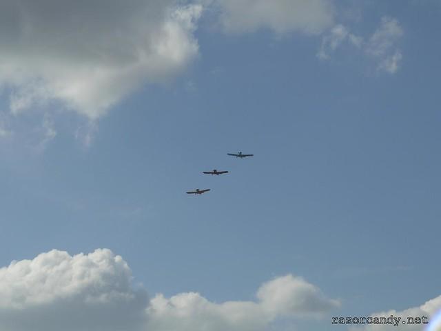 4 P1130830 Druine D.31 Turbulent {G-ARGZ} {G-APVZ} {G-ARBZ} _ City Airport - 2009 (4th July)