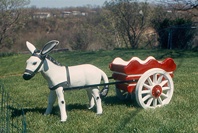 Photo:Peoria - Donkey Cart in Our Back Yard By:roger4336