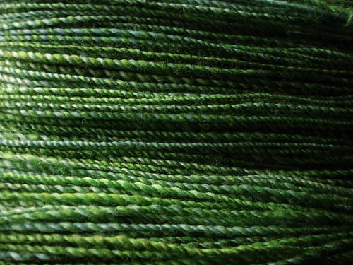 Winter Greens handspun yarn