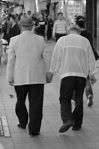 Old Men Holding Hands